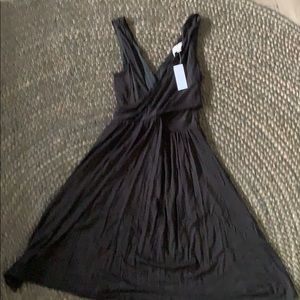NWT Ann Taylor Loft double V black dress size S